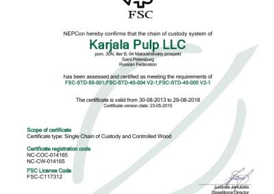 FSC Certificate page 1